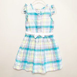 Gymboree Plaid Button Front preppy Cotton Dress 3T